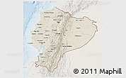 Shaded Relief 3D Map of Ecuador, lighten