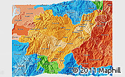 Political Shades 3D Map of Azuay