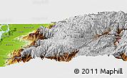 Physical Panoramic Map of Cuenca