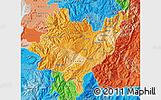 Political Shades Map of Azuay