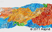 Political Shades Panoramic Map of Azuay