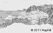 Gray Panoramic Map of Canar