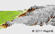 Physical Panoramic Map of Canar