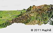 Satellite Panoramic Map of Canar