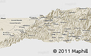 Shaded Relief Panoramic Map of Canar