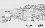 Silver Style Panoramic Map of Canar
