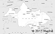 Silver Style Simple Map of Canar