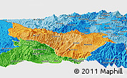 Political Shades Panoramic Map of Carchi