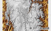 Physical Map of Riobamba