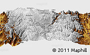 Physical Panoramic Map of Riobamba