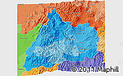 Political Shades 3D Map of Cotopaxi