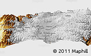 Physical Panoramic Map of Latacunga
