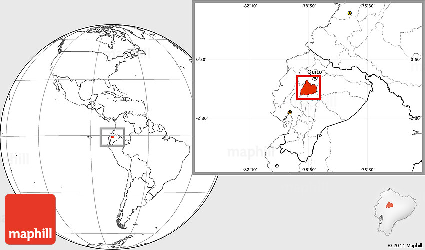 blank location map of cotopaxi