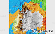 Physical Map of Cotopaxi, political outside