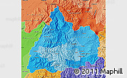 Political Shades Map of Cotopaxi
