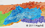 Political Shades Panoramic Map of Cotopaxi
