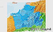Political Shades 3D Map of El Oro