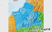 Political Shades Map of El Oro