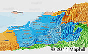 Political Shades Panoramic Map of El Oro