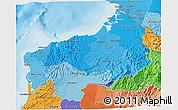 Political Shades 3D Map of Esmeraldas