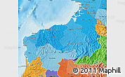 Political Shades Map of Esmeraldas
