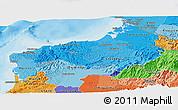 Political Shades Panoramic Map of Esmeraldas