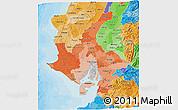 Political Shades 3D Map of Guayas