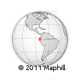 Outline Map of Guayaquil
