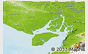 Physical Panoramic Map of Guayaquil
