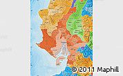 Political Shades Map of Guayas