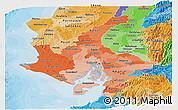 Political Shades Panoramic Map of Guayas