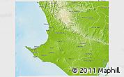 Physical 3D Map of Santa Elena