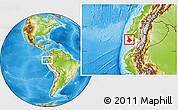 Physical Location Map of Santa Elena, highlighted parent region