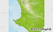 Physical Map of Santa Elena