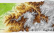 Physical 3D Map of Imbabura