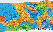 Political 3D Map of Imbabura