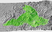 Political Shades 3D Map of Imbabura, desaturated