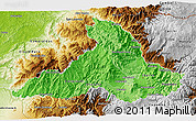 Political Shades 3D Map of Imbabura, physical outside
