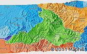 Political Shades 3D Map of Imbabura