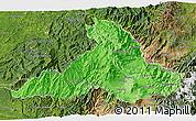 Political Shades 3D Map of Imbabura, satellite outside