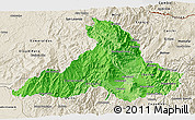 Political Shades 3D Map of Imbabura, shaded relief outside