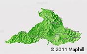 Political Shades 3D Map of Imbabura, single color outside