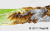 Physical Panoramic Map of Cotacachi