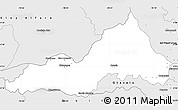 Silver Style Simple Map of Cotacachi