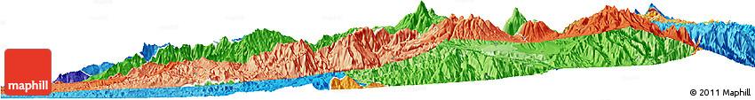 Political Shades Horizon Map of Imbabura