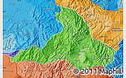 Political Shades Map of Imbabura