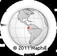 Outline Map of Imbabura