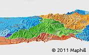 Political Shades Panoramic Map of Imbabura