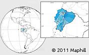 Political Location Map of Ecuador, blank outside