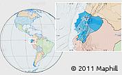 Political Location Map of Ecuador, lighten